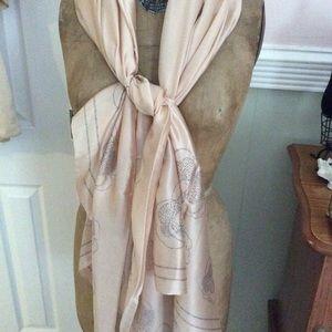 Vintage Chanel scarf shawl beige